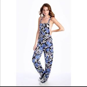 Wildfox Blue Bouquet Overall, Jumper Size XS